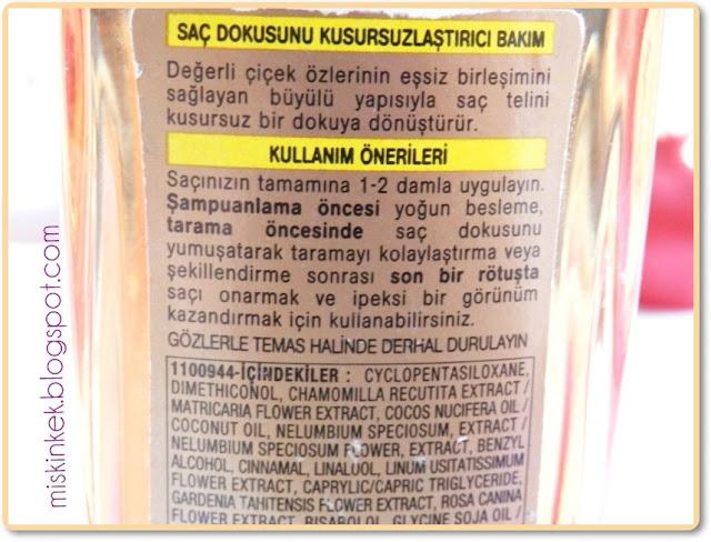loreal-elseve-mucizevi--sac-bakim-yagi-icerik