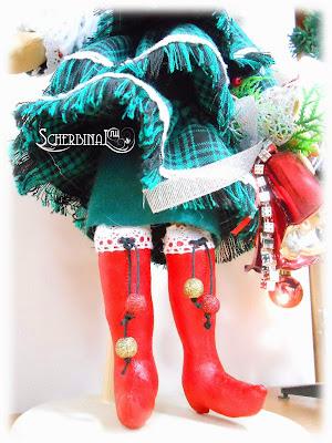 текстильная кукла-ёлка