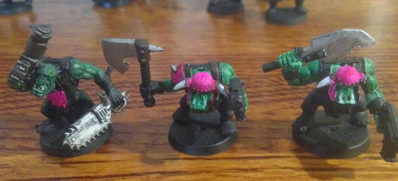Warhammer 40K pink orks Orkys
