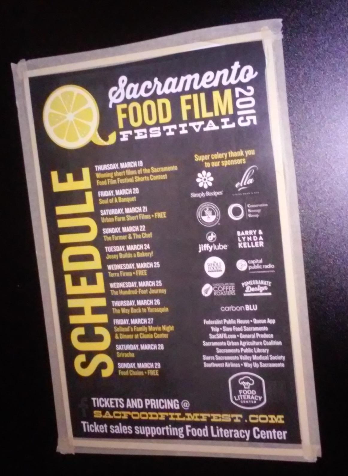 Fourth Annual Sacramento Food Film Festival Kicks-off