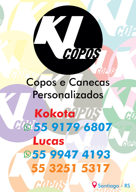 KL Copos Personalizados em Santiago!