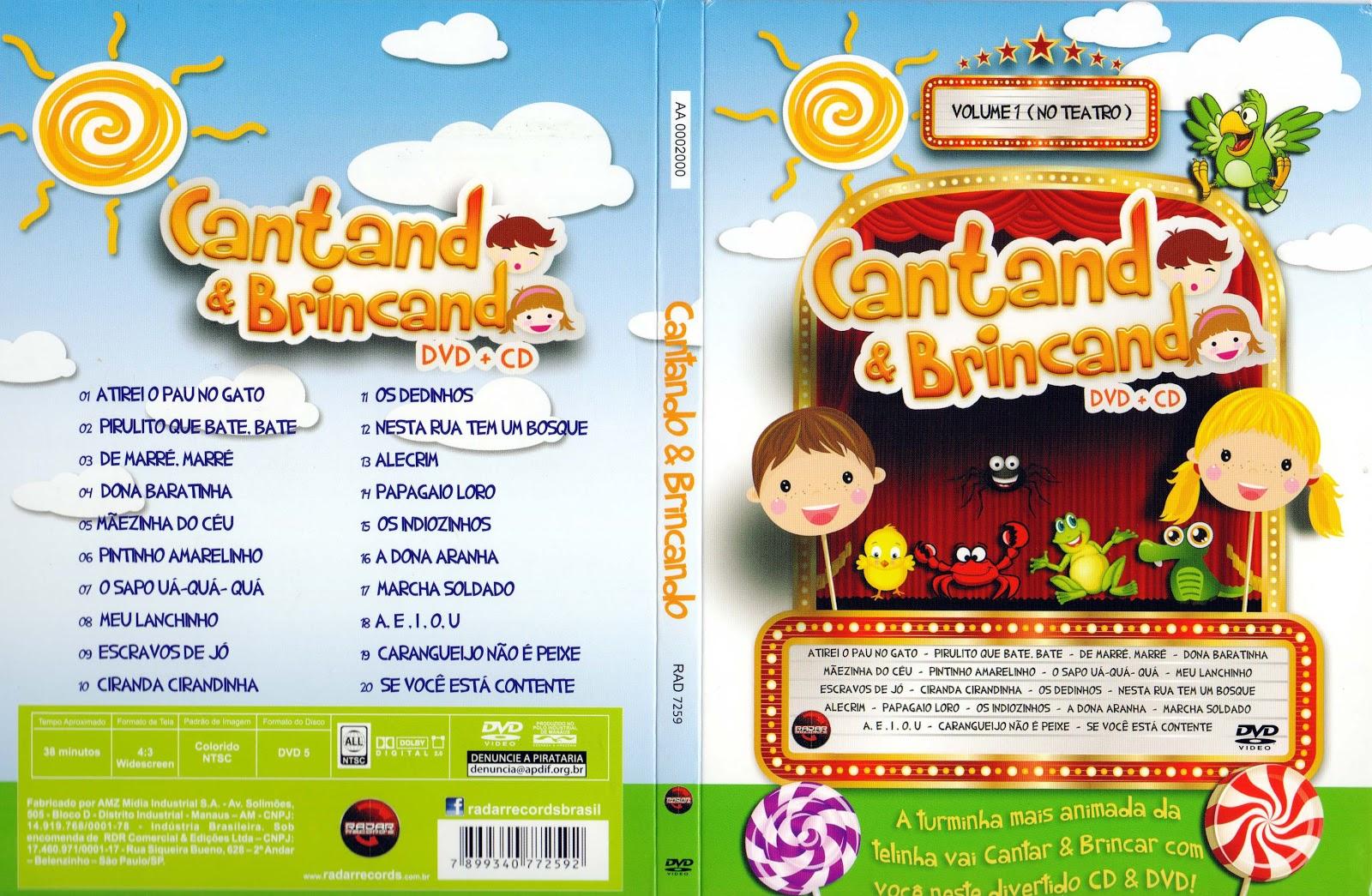 Capa DVD Cantando E Brincando
