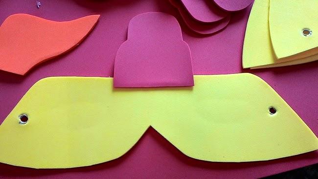 Atividades Pedagógicas, Teatro, Máscaras, Galinha, EVA, Eu que Fiz, Artesanato, Escola,