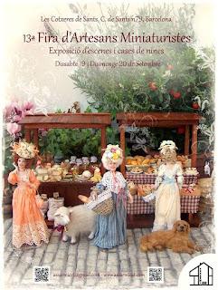fiera di miniature per case di bambola Barcellona
