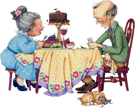 Desenho para Dia dos Avós colorido