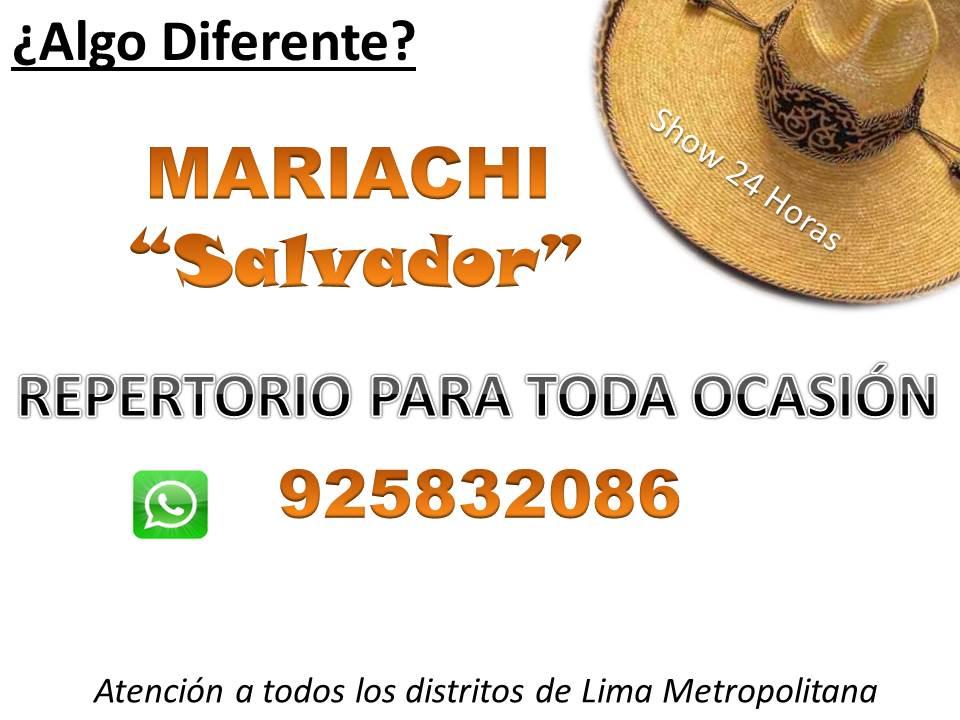 """Mariachis en Lima """"Salvador"""" Precios Charros Mariachis Serenatas"""