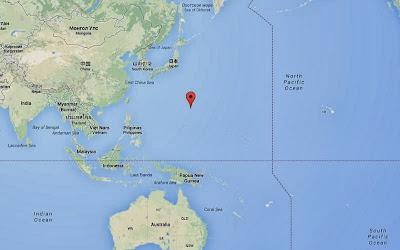 Epicentro sismo 6,2 grados en islas Marianas, 18 de Diciembre 2013