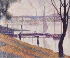 Georges Seurat (27-28) - El puente de Courbevoie (1886-1887) - técnica del puntillismo