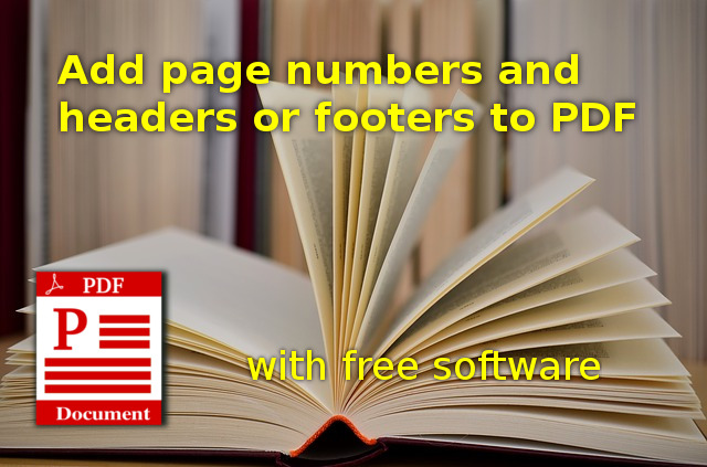 Add page numbers, headers and footers to PDF in Linux