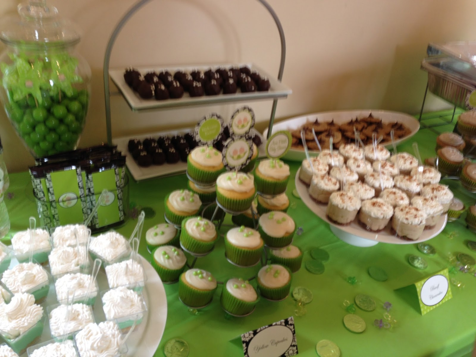 "Bean Appetit Bakery ""Two Peas in a Pod"" Baby Shower"