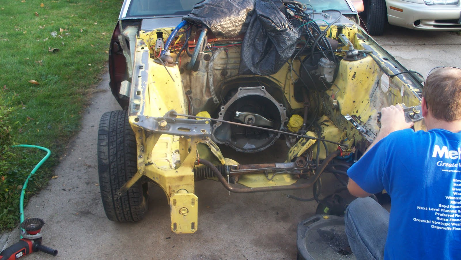 Fox Body Mustang Restoration: Mustang Radiator Core Support Removal ...