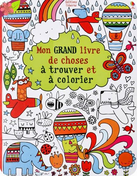 Mon grand livre de choses à trouver et à colorier - éditions Usborne