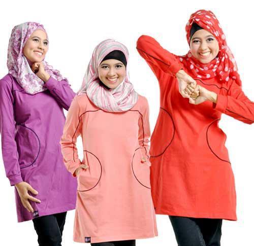 Contoh Motif Fashion Baju Casual Muslimah 2015