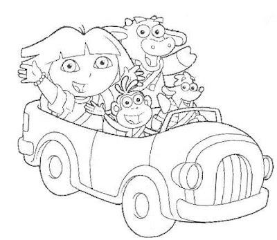 coche amigos Dora Exploradora