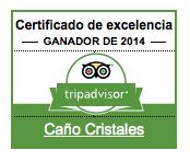 Caño Cristales - Certificado de excelencia 2014 - premios TripAdvisor