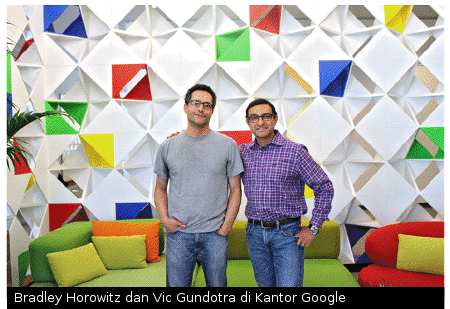 Google+ History: Bradley Horowitz and Vic Gundotra in Google Office
