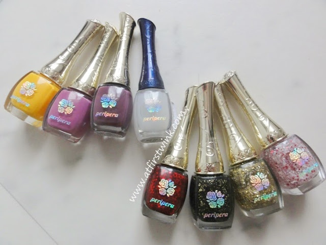 Peripera nail polishes