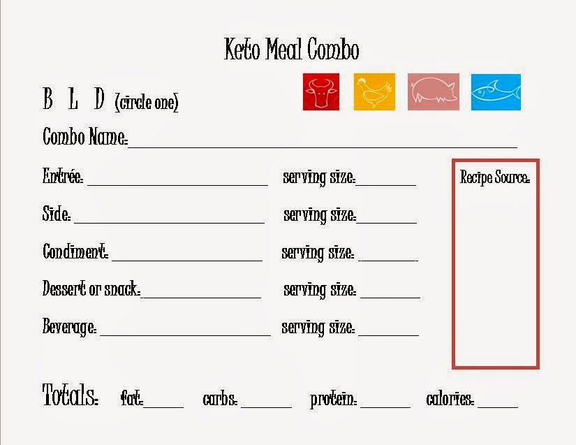 24 7 Low Carb Diner Keto Menu Planning Sheets