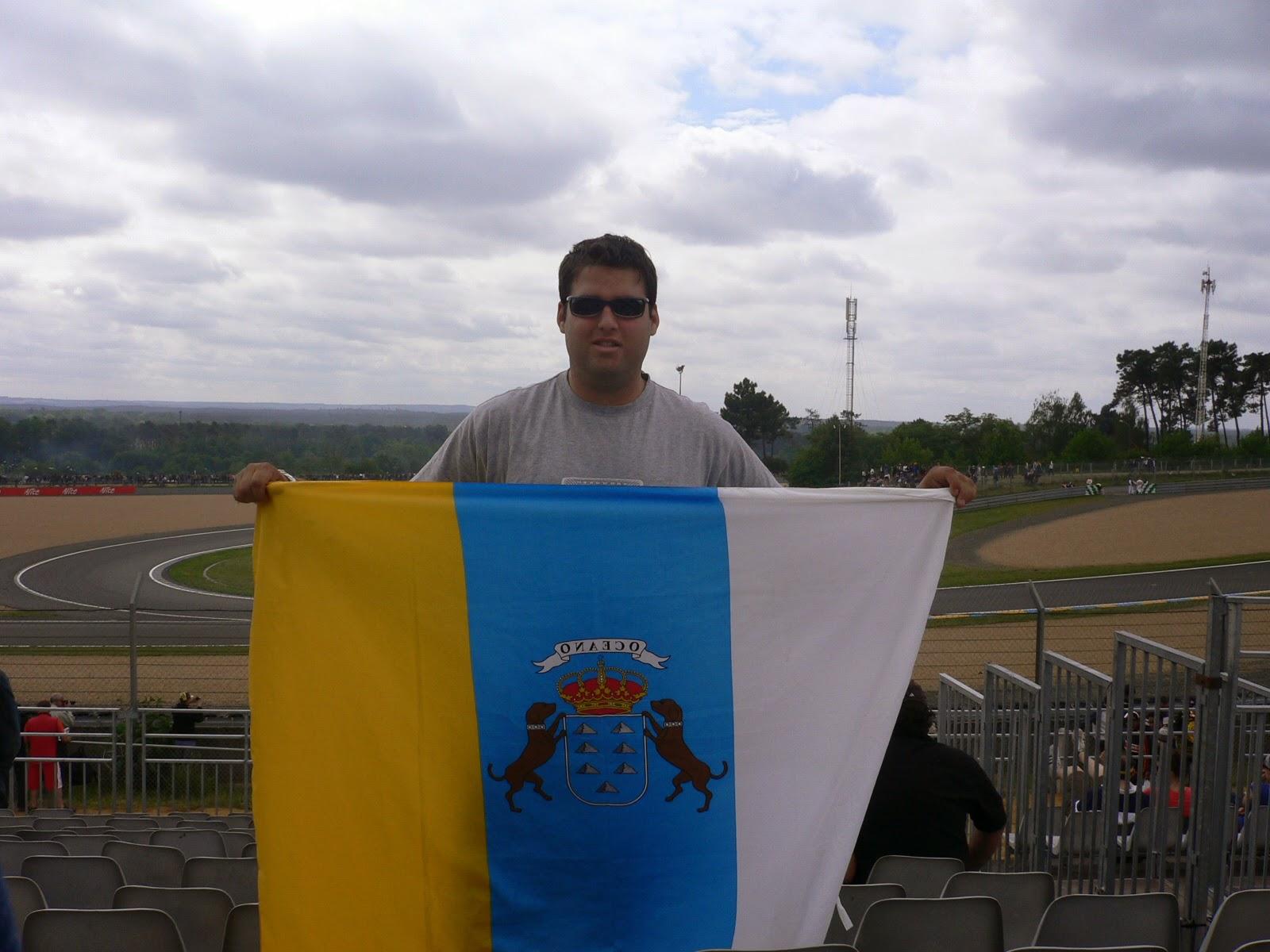 Fernando en el circuito de Le Mans