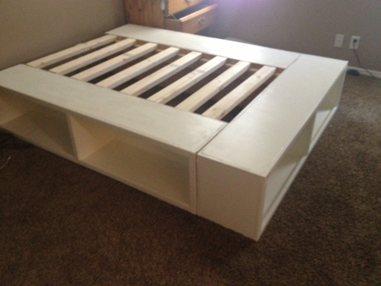 Diy storage bed for Bed frame plans