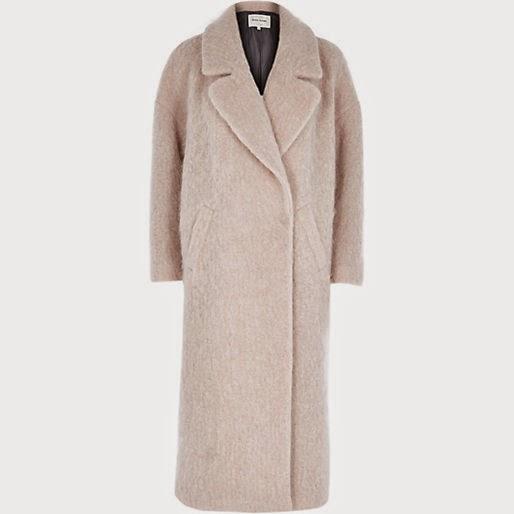 light pink long coat