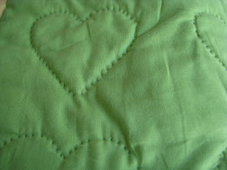 quilted heart back side