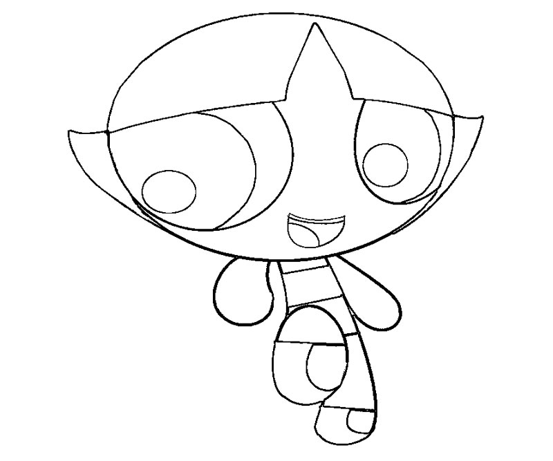 Powerpuff Girls Coloring Pages Of Buttercup Powerpuff Buttercup Coloring Pages