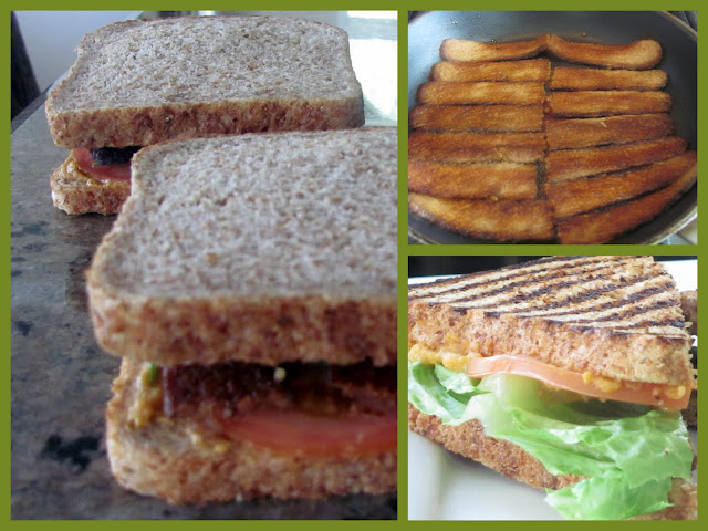 Smoky Tempeh Panini on Sprouted Wheat Bread
