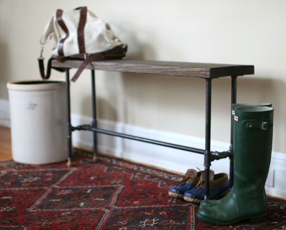 Foyer Bench Jobs : Over on ehow diy industrial entry bench apart
