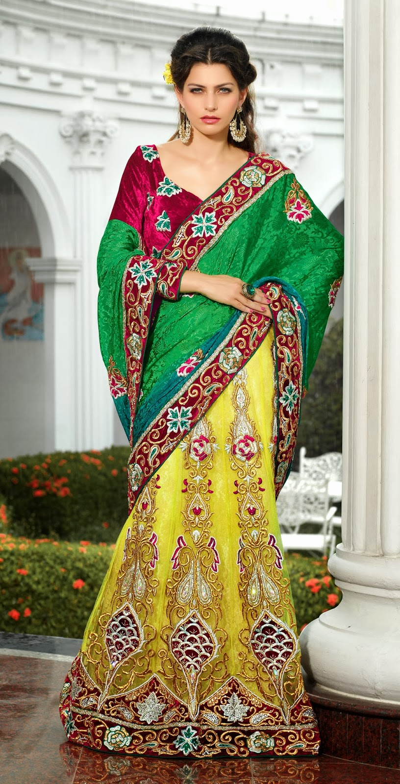 Bridal Lehenga for Wedding: Latest Trend Lehenga Style Saree