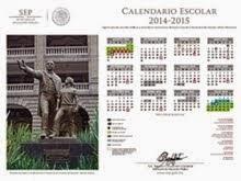 CALENDARIO ESCOLAR 2014-2015.