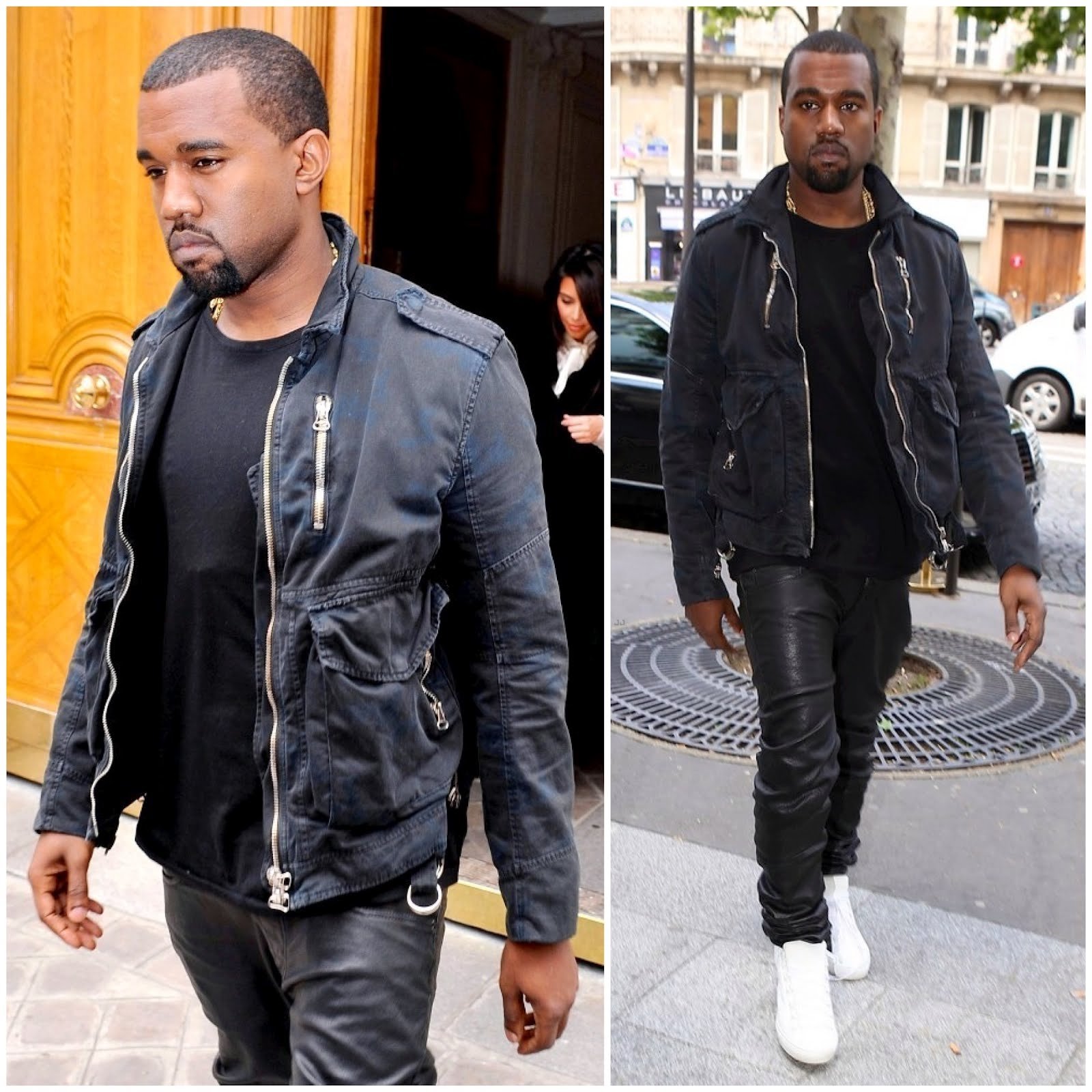 00o00 menswear london blog fashion style Kanye West Paris Balmain Homme Spring 2010 cotton jacket