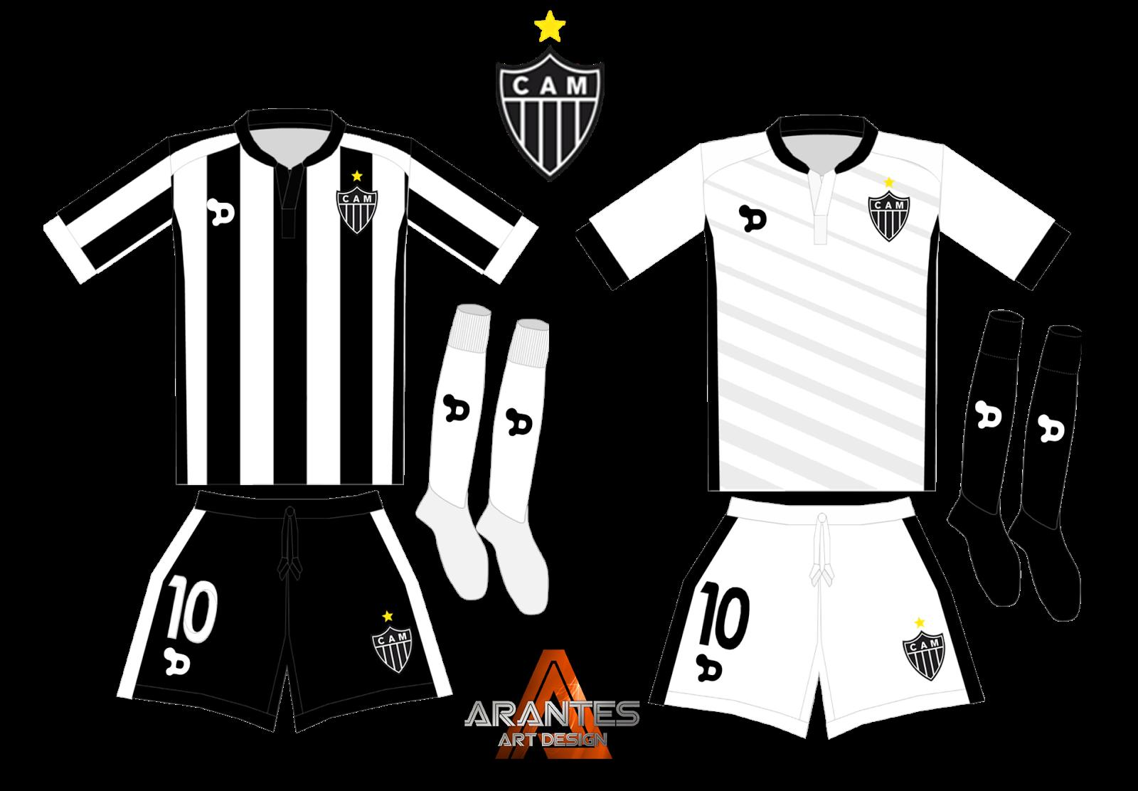 Esboço de um uniforme do Atlético MG 74818a7a2ea7d