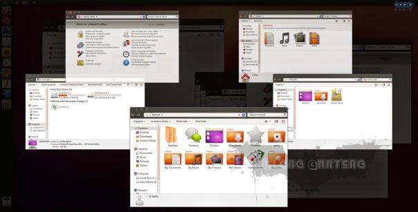 Ubuntu Skin Pack for windows 7
