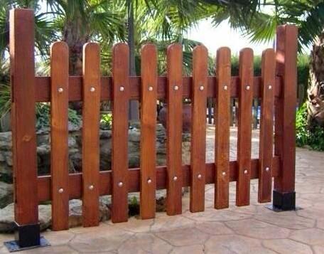 Piedra artificial tordesillas vallas y cercas imitaci n for Vallas madera para jardin
