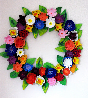 egg carton wreath tutorial