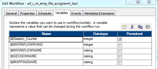assign session variable to datatable