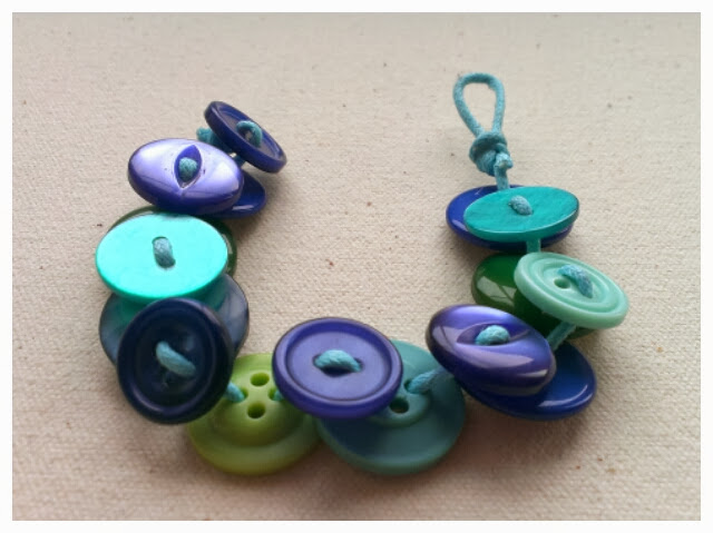 Miss Chaela Boo - Five ideas for crafting with buttons - cord button bracelet