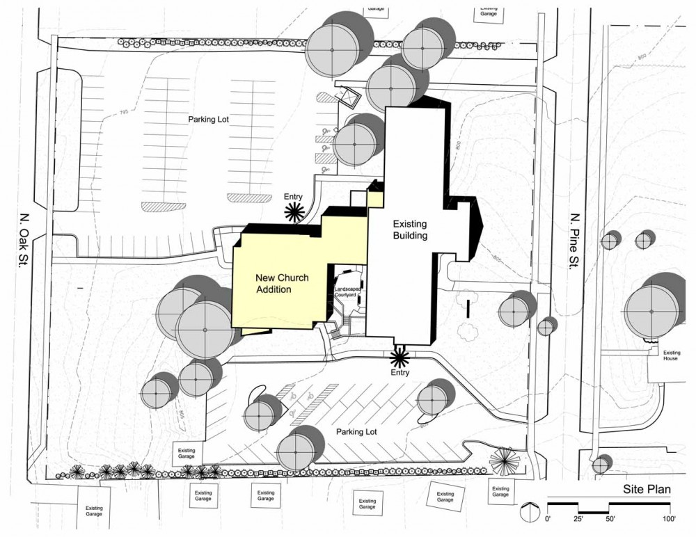 First congregational church united church of christ for Site plan drawing online