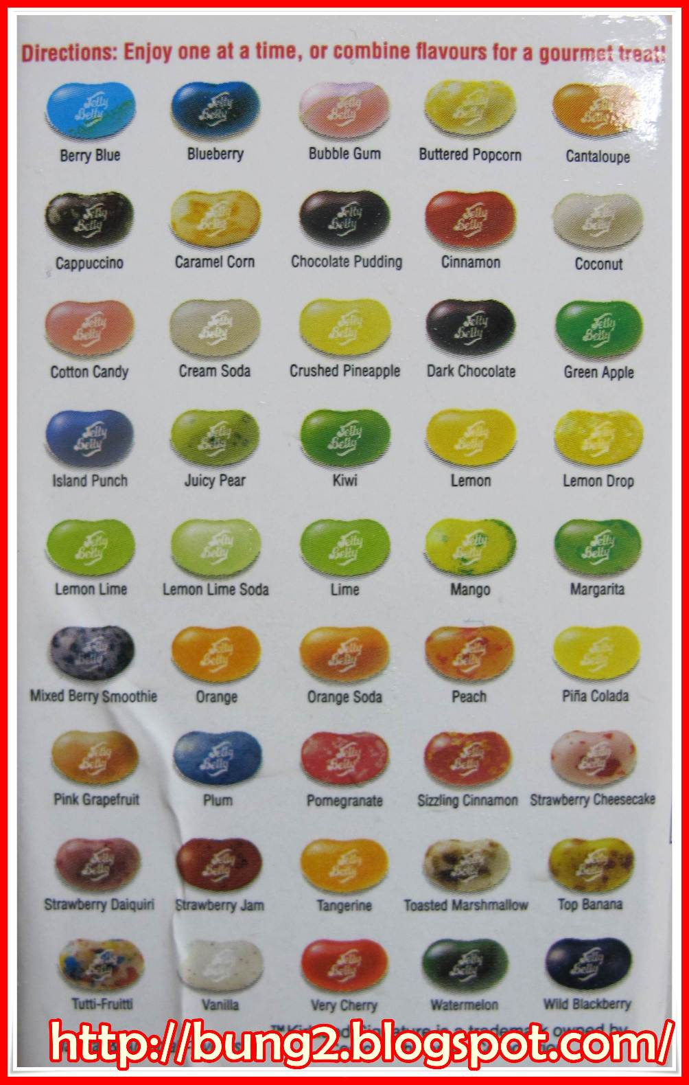 Jelly beans flavors