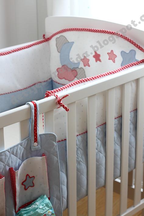 De tijera rapida coser un protector para la cuna - Telas para cunas de bebe ...