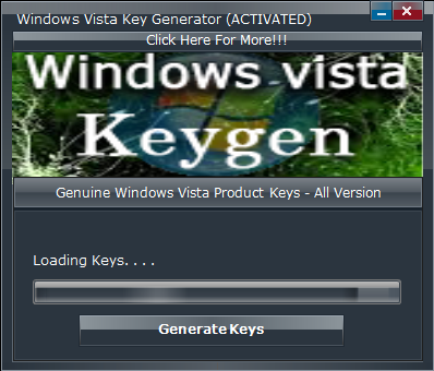 window vista keygen free download