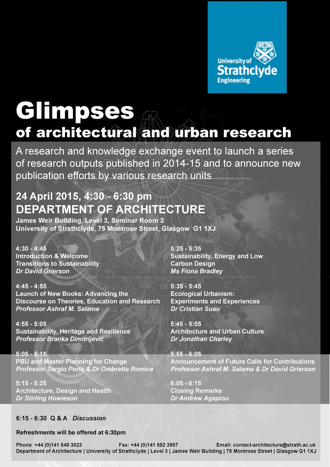 Glimpses of Architectural & Urban Research