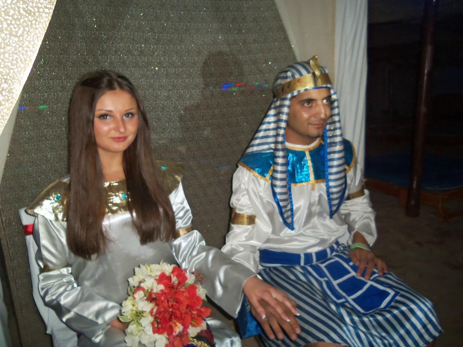 بالصور حفل زفاف فرعونى فى شرم الشيخ لسائحة روسية