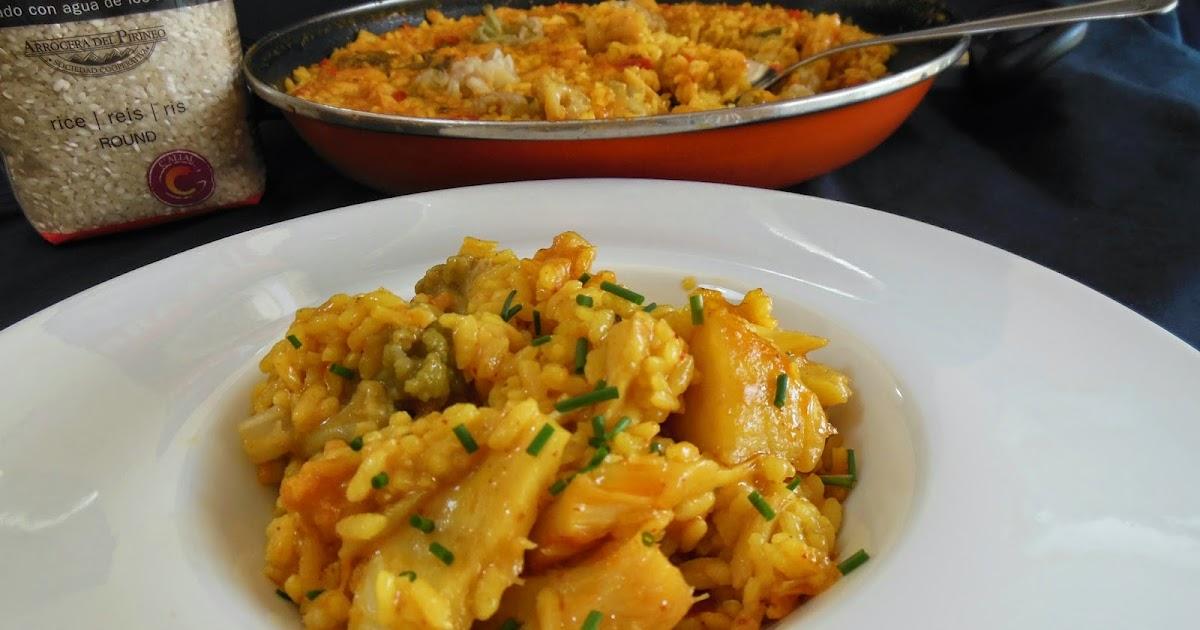 Arroz con bacalao y coliflor cocinando en mislares - Arroz con bacalao desmigado ...