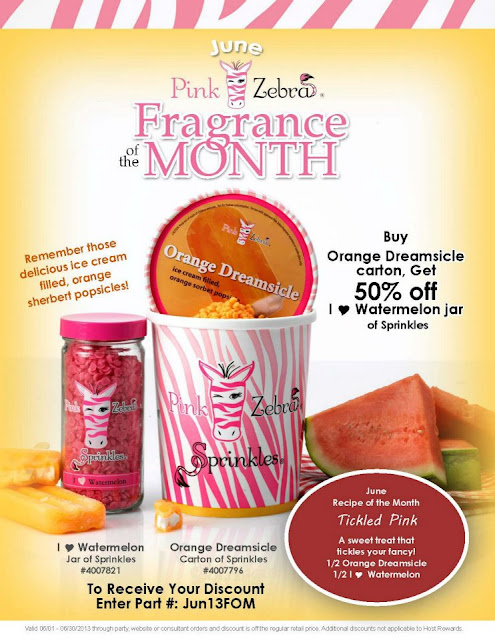 June Pink Zebra Fragrance of the  month special image