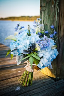 florida blue bride bouquet