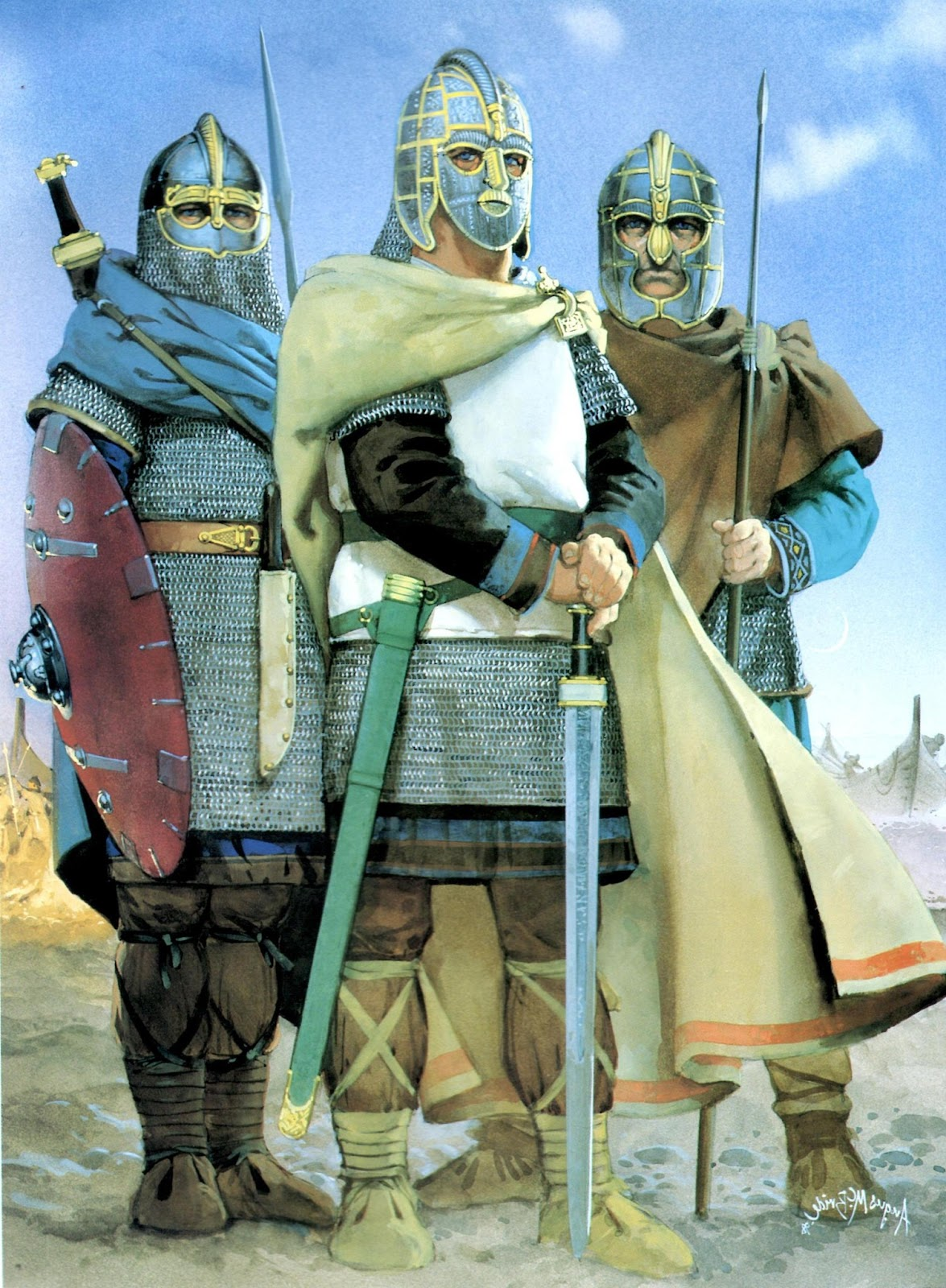 Anglo-Saxon Warriors.
