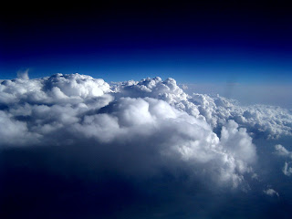 Picture of clouds taken from an airplane, image from Wikipedia Commons