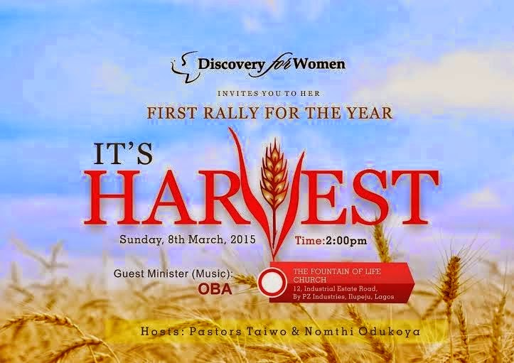 Discovery For Women: It's Harvest   8th March, 2015
